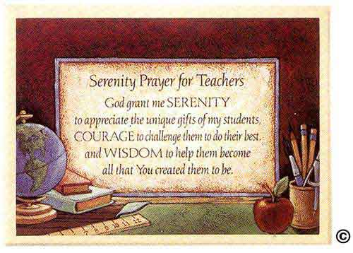 serenity prayer for teacher plaque plaque offers a unique twist on the ...