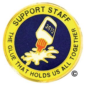 support and staff pins