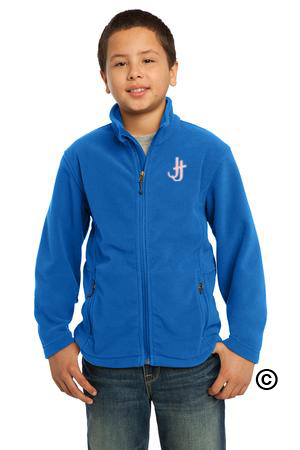 Jack and Jill Soft Royal Blue Fleece Jacket with Pink Logo